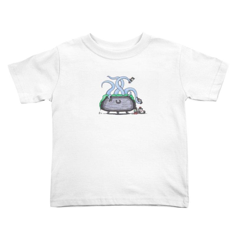 Drunken Tentacles Kids Toddler T-Shirt by Raven Mad Design's Artist Shop