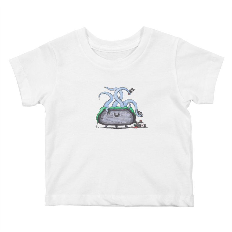 Drunken Tentacles Kids Baby T-Shirt by Raven Mad Design's Artist Shop