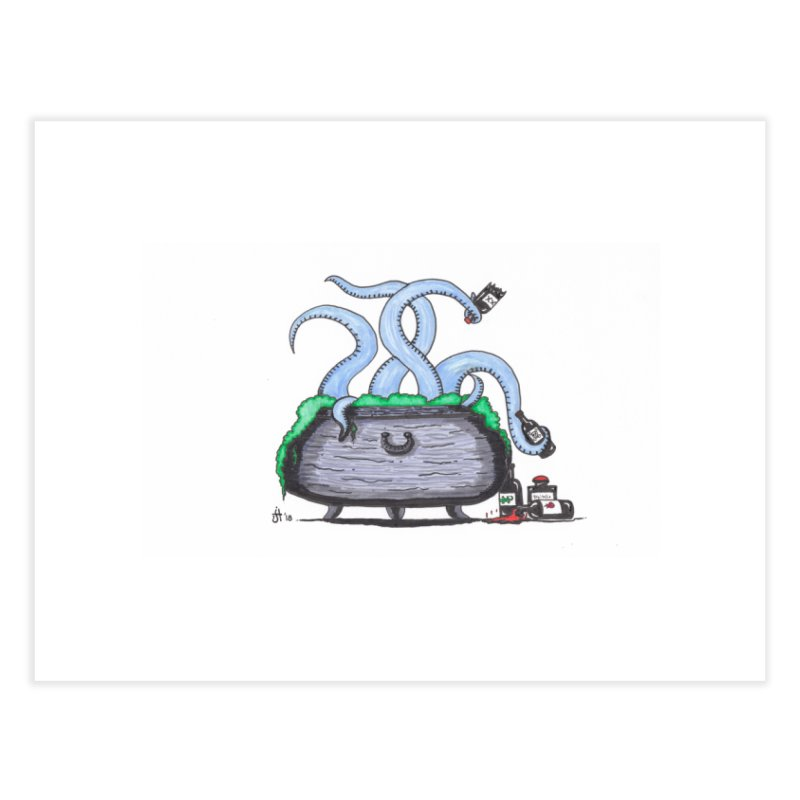 Drunken Tentacles Home Fine Art Print by Raven Mad Design's Artist Shop