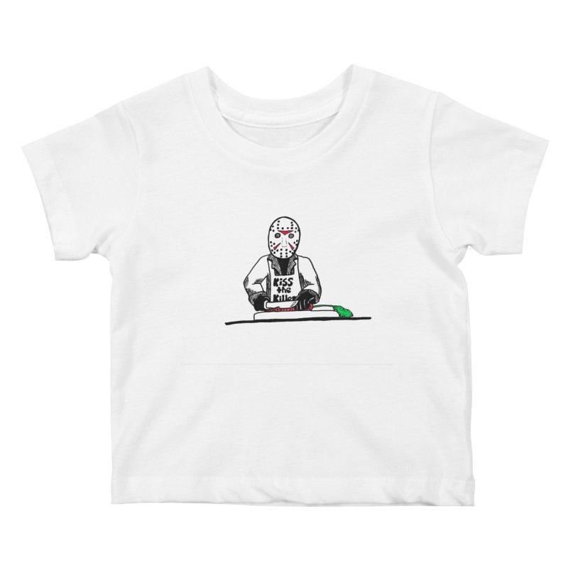 Killers In The Kitchen Jason Kids Baby T-Shirt by Raven Mad Design's Artist Shop