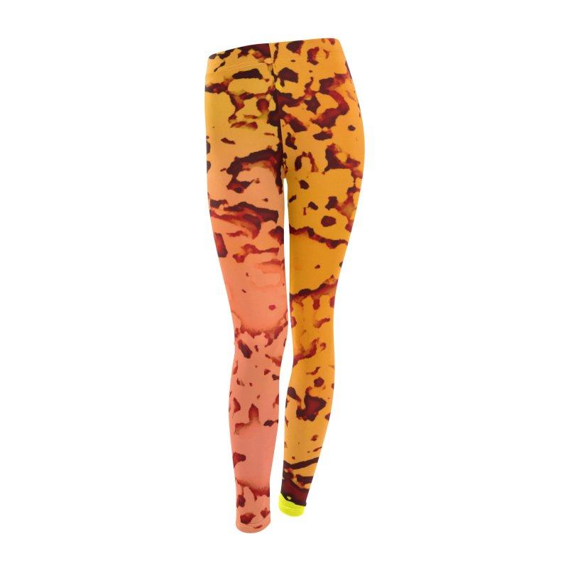 Fiery Explosion Women's Leggings Bottoms by RavencroftGraphics3D's Artist Shop