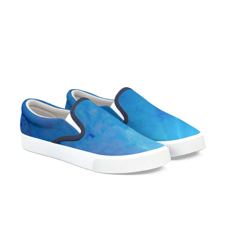 The Deep Blue Men's Slip-On Shoes by RavencroftGraphics3D's Artist Shop