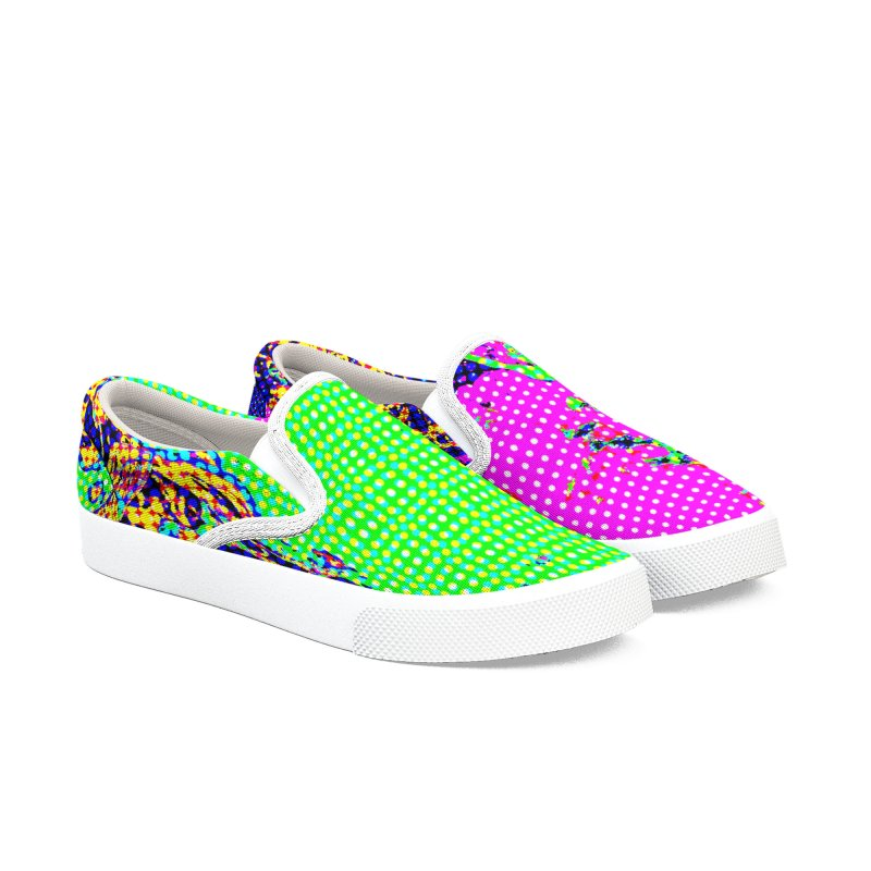Spring Candy Men's Slip-On Shoes by RavencroftGraphics3D's Artist Shop