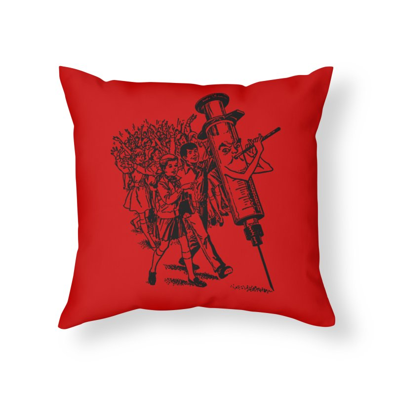 Follow the Needle Throw Pillow Home Throw Pillow by RawGravy's Artist Shop