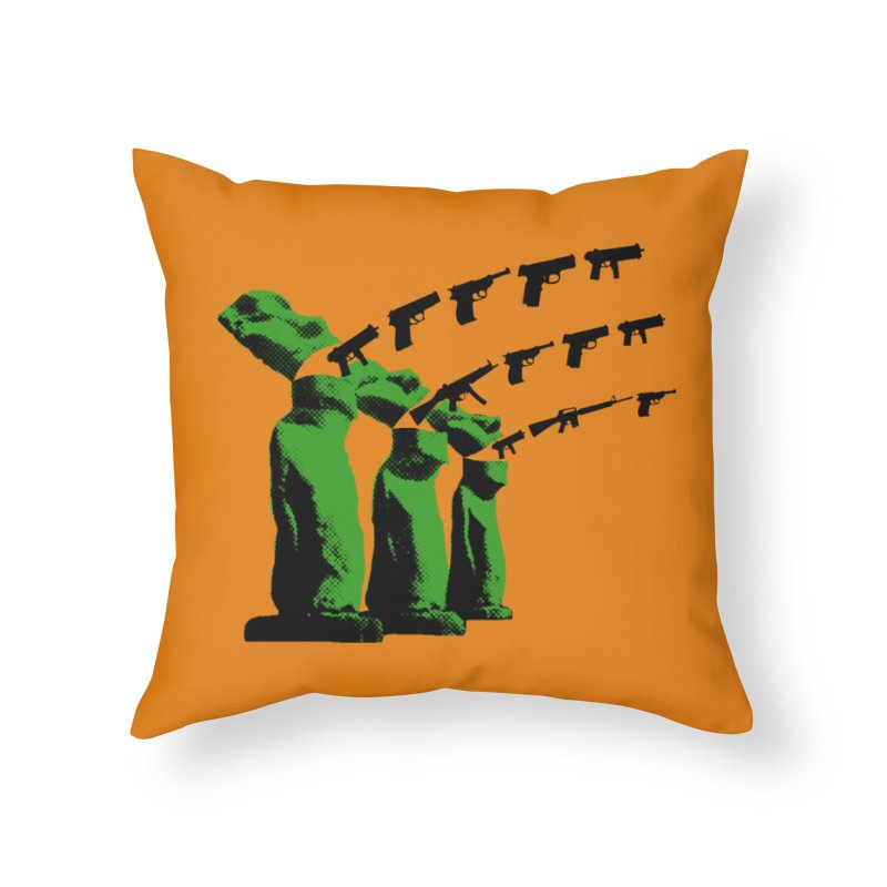 Gun Tiki Throw Pillow Home Throw Pillow by RawGravy's Artist Shop