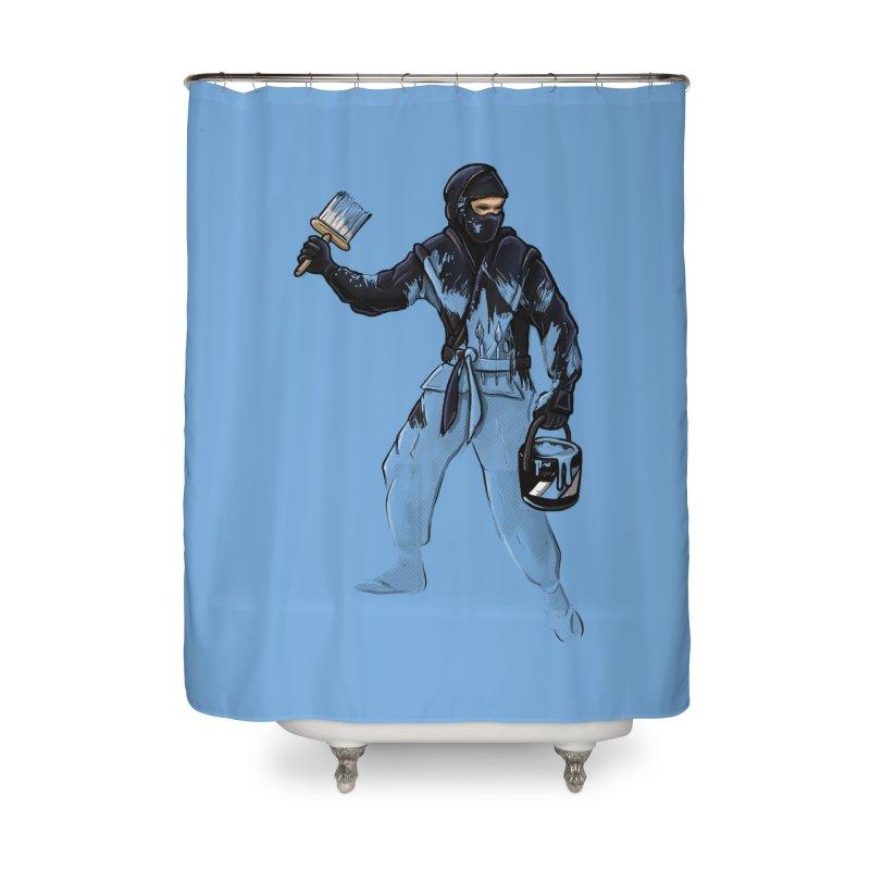 Stealth Ninja Home Shower Curtain by Rax's Artist Shop