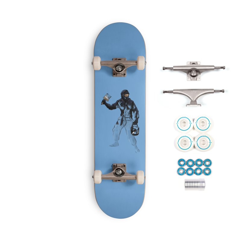 Stealth Ninja Accessories Skateboard by Rax's Artist Shop