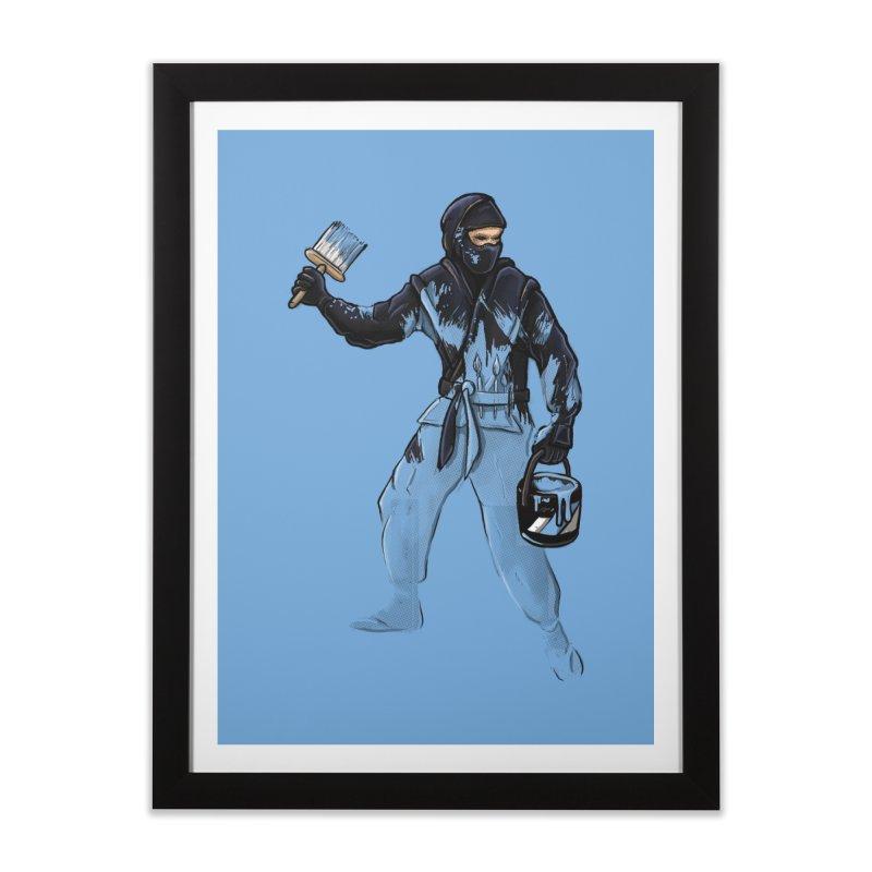 Stealth Ninja Home Framed Fine Art Print by Rax's Artist Shop