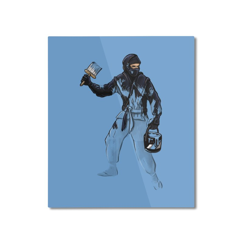 Stealth Ninja Home Mounted Aluminum Print by Rax's Artist Shop