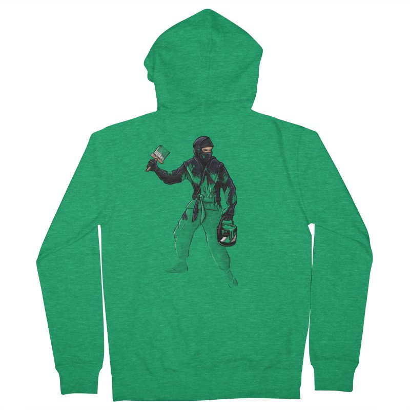 Stealth Ninja Men's Zip-Up Hoody by Rax's Artist Shop