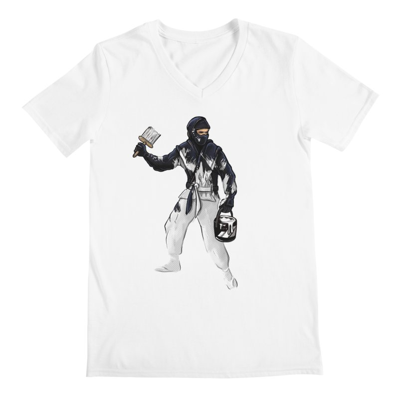 Stealth Ninja Men's V-Neck by Rax's Artist Shop