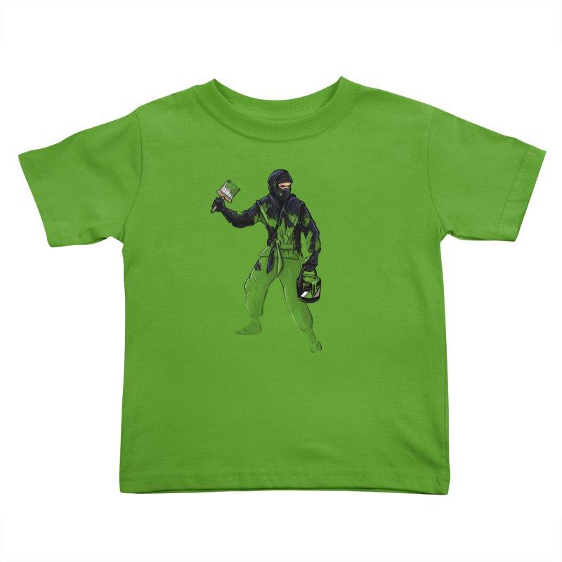 Stealth Ninja Kids Toddler T-Shirt by Rax's Artist Shop