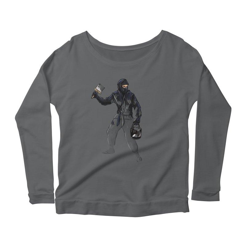 Stealth Ninja Women's Longsleeve T-Shirt by Rax's Artist Shop