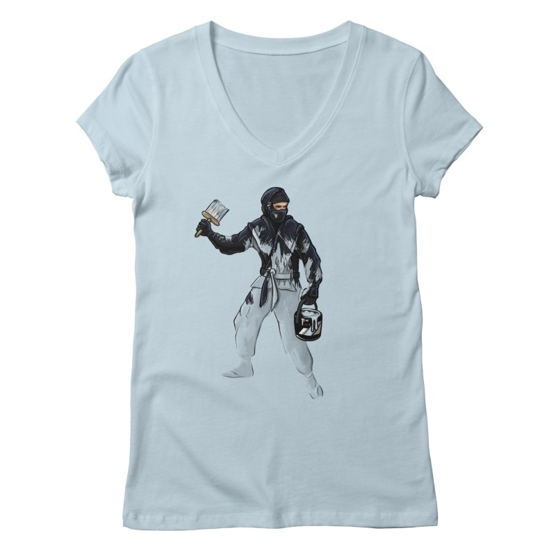 Stealth Ninja Women's V-Neck by Rax's Artist Shop