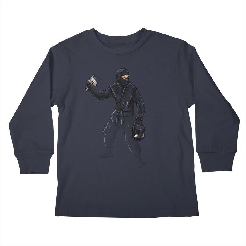 Stealth Ninja Kids Longsleeve T-Shirt by Rax's Artist Shop