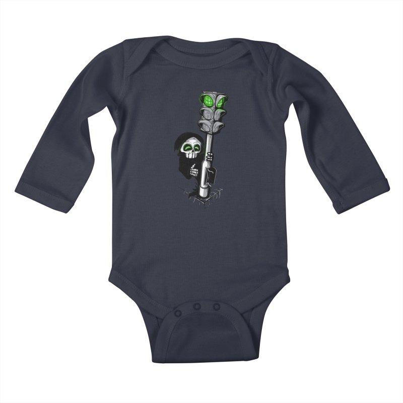 Traffic lights Kids Baby Longsleeve Bodysuit by Rax's Artist Shop