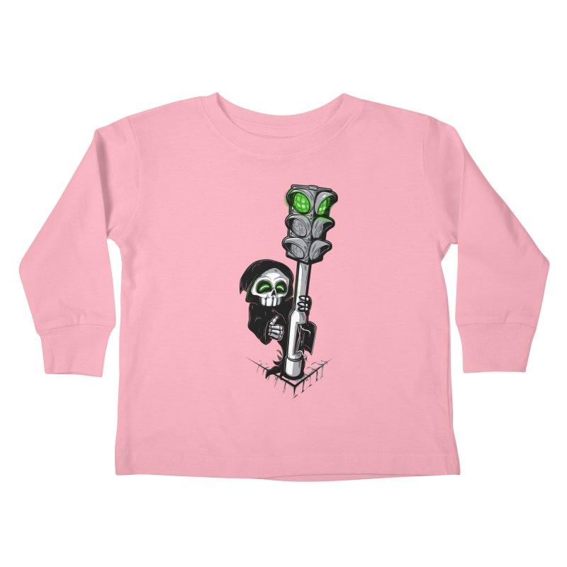 Traffic lights Kids Toddler Longsleeve T-Shirt by Rax's Artist Shop