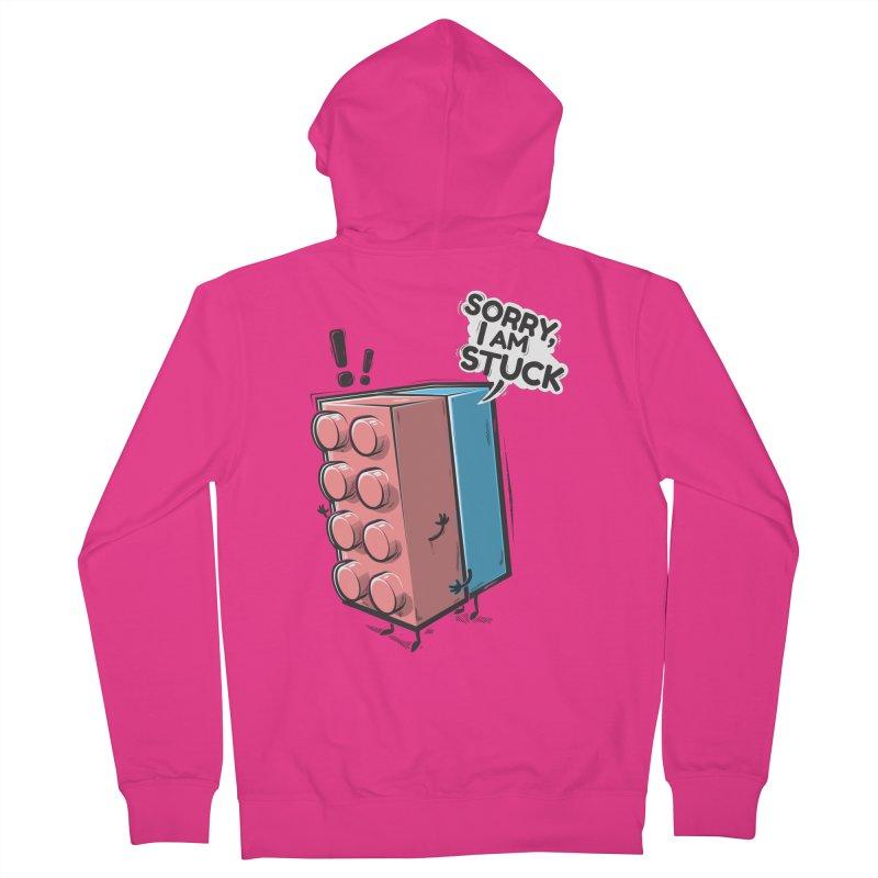 Stuck Men's Zip-Up Hoody by Rax's Artist Shop
