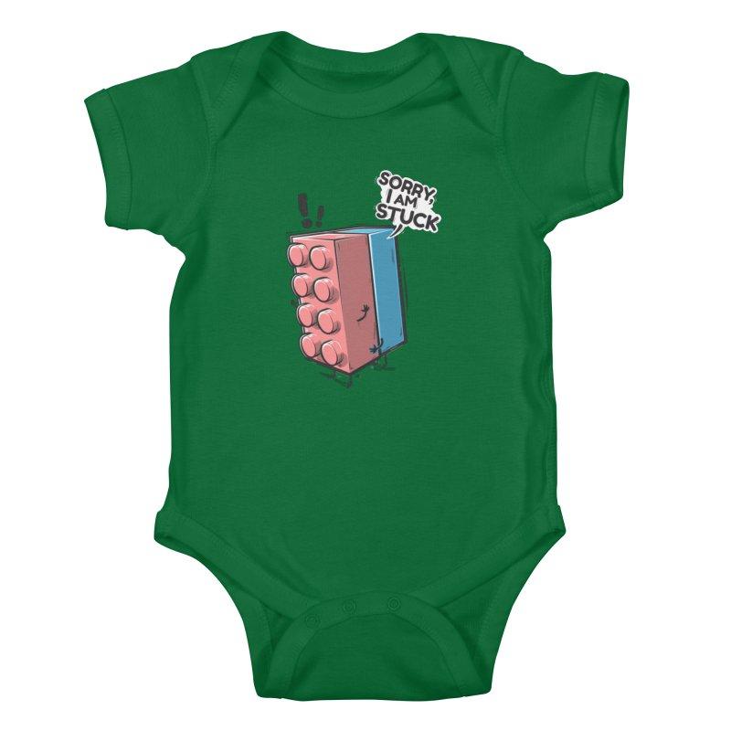 Stuck Kids Baby Bodysuit by Rax's Artist Shop