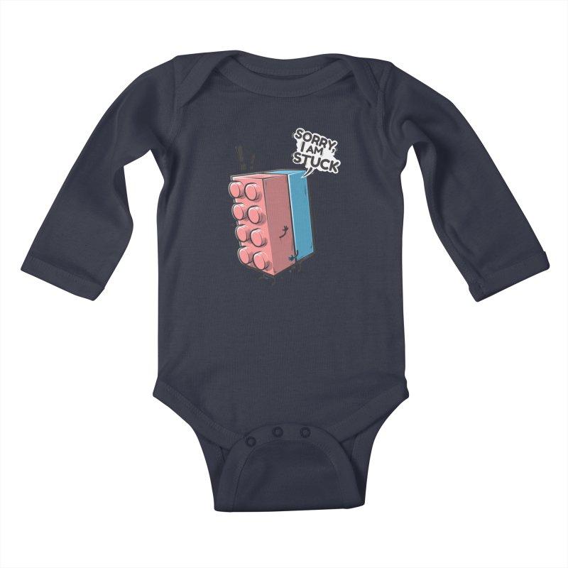 Stuck Kids Baby Longsleeve Bodysuit by Rax's Artist Shop
