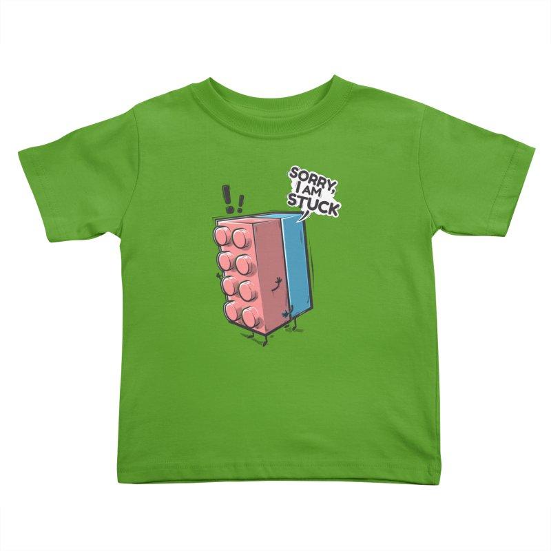 Stuck Kids Toddler T-Shirt by Rax's Artist Shop