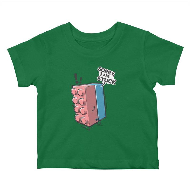 Stuck Kids Baby T-Shirt by Rax's Artist Shop