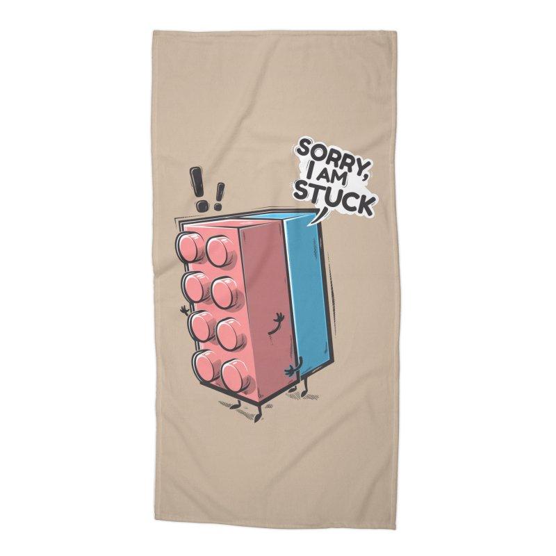 Stuck Accessories Beach Towel by Rax's Artist Shop