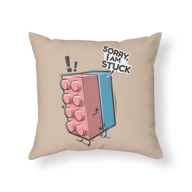 Stuck Home Throw Pillow by Rax's Artist Shop