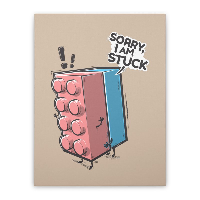 Stuck Home Stretched Canvas by Rax's Artist Shop