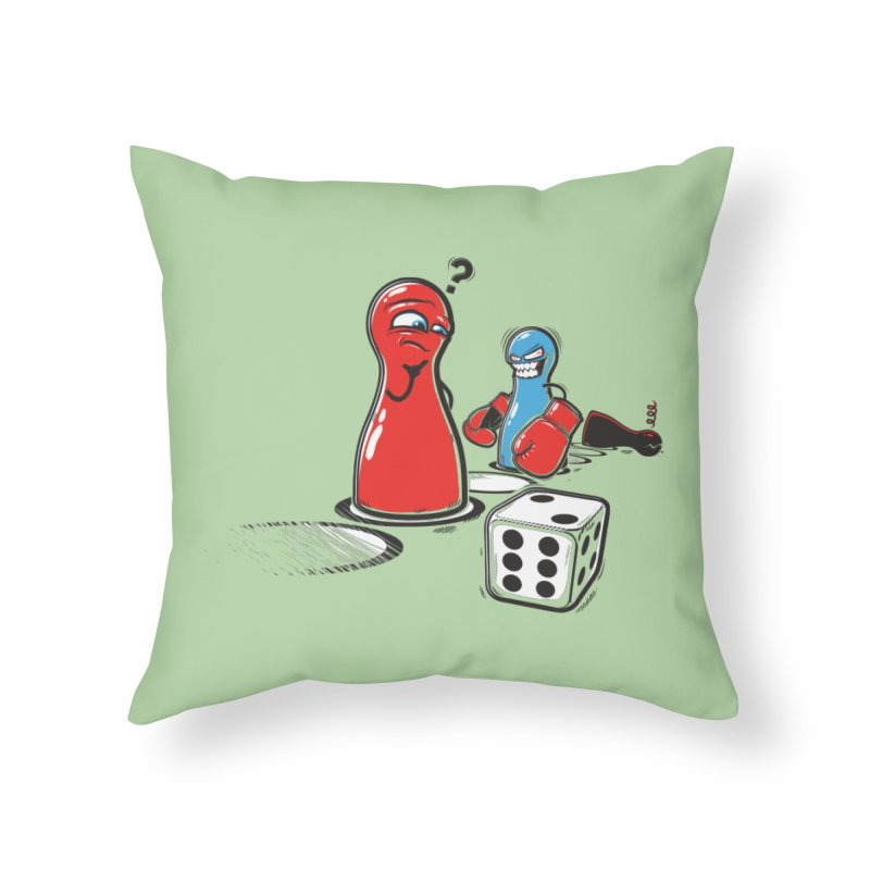 Sorry! Home Throw Pillow by Rax's Artist Shop