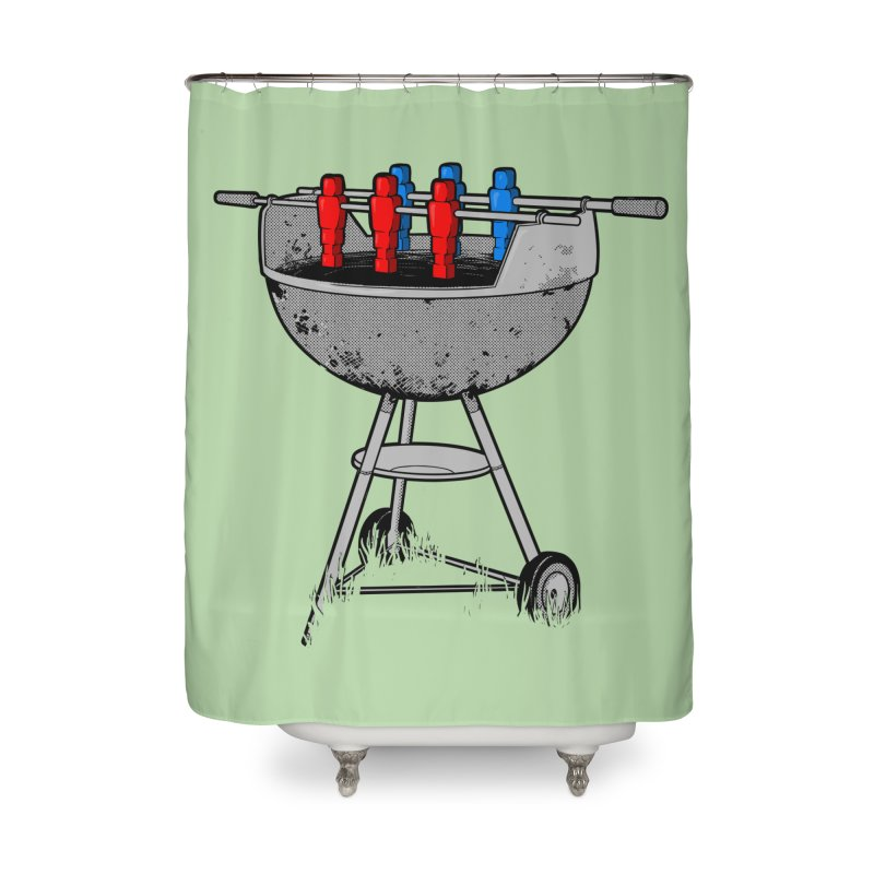 Grillball Home Shower Curtain by Rax's Artist Shop