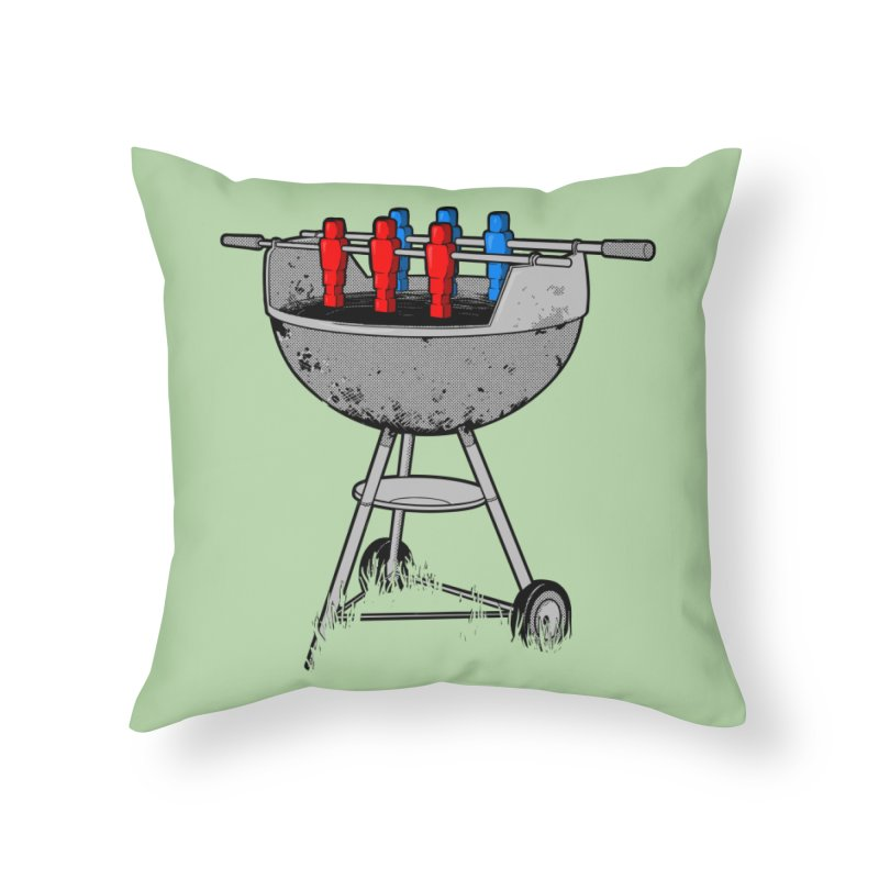 Grillball Home Throw Pillow by Rax's Artist Shop