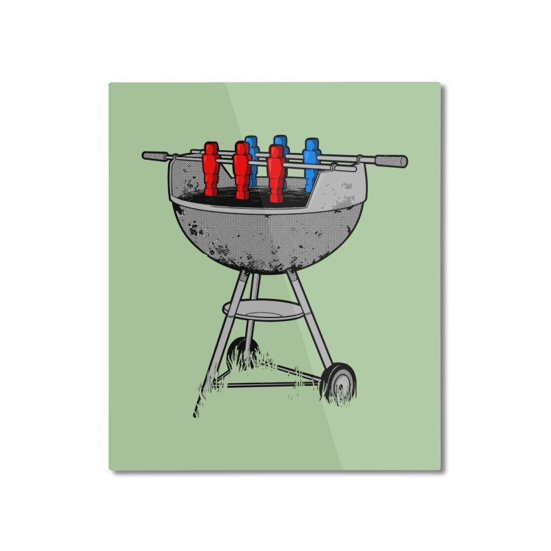 Grillball Home Mounted Aluminum Print by Rax's Artist Shop