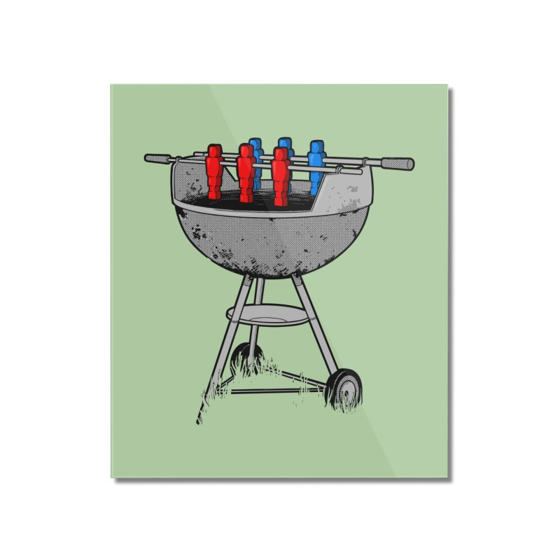 Grillball Home Mounted Acrylic Print by Rax's Artist Shop