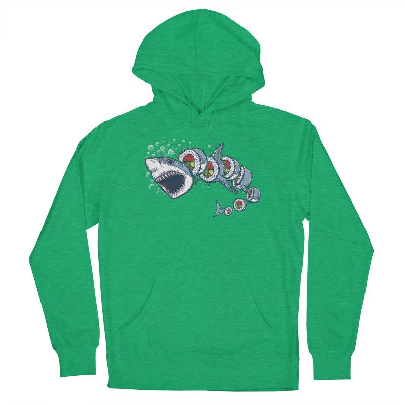Shark Sushi Men's Pullover Hoody by Rax's Artist Shop
