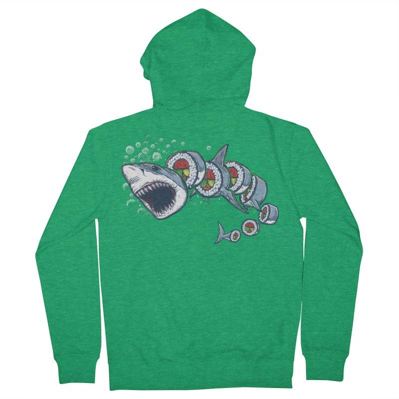 Shark Sushi Men's Zip-Up Hoody by Rax's Artist Shop