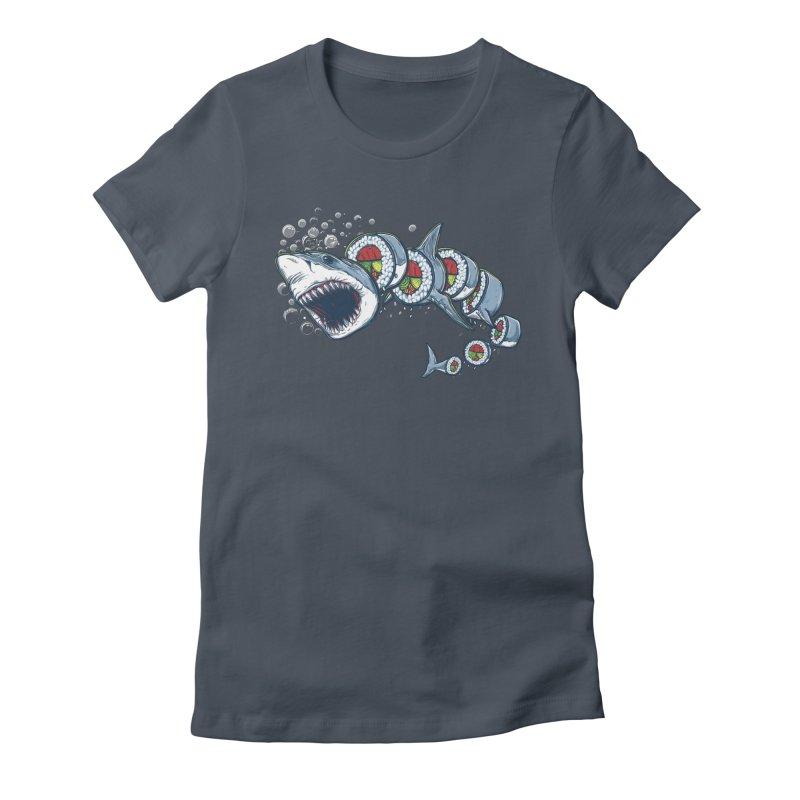 Shark Sushi Women's T-Shirt by Rax's Artist Shop