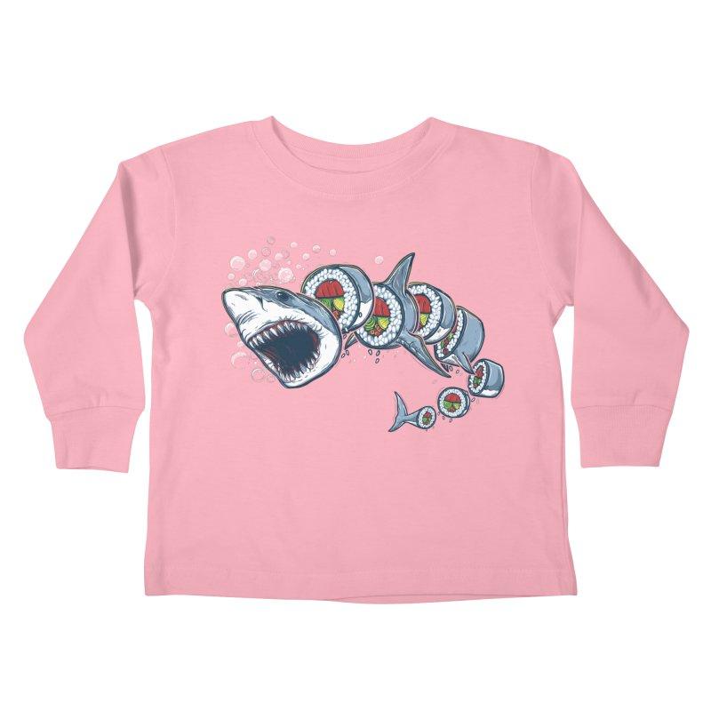 Shark Sushi Kids Toddler Longsleeve T-Shirt by Rax's Artist Shop