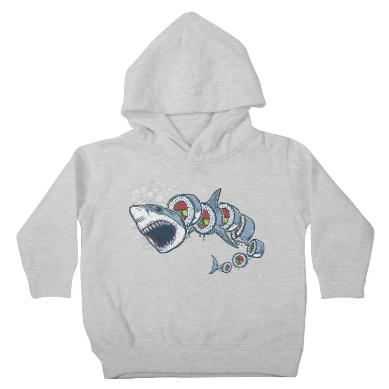 Shark Sushi Kids Toddler Pullover Hoody by Rax's Artist Shop
