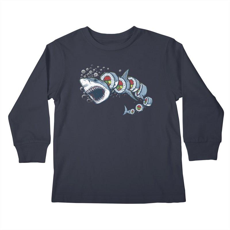 Shark Sushi Kids Longsleeve T-Shirt by Rax's Artist Shop