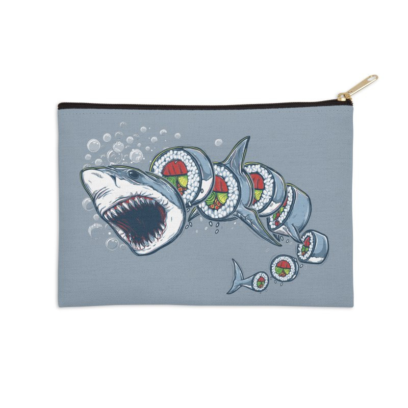 Shark Sushi Accessories Zip Pouch by Rax's Artist Shop