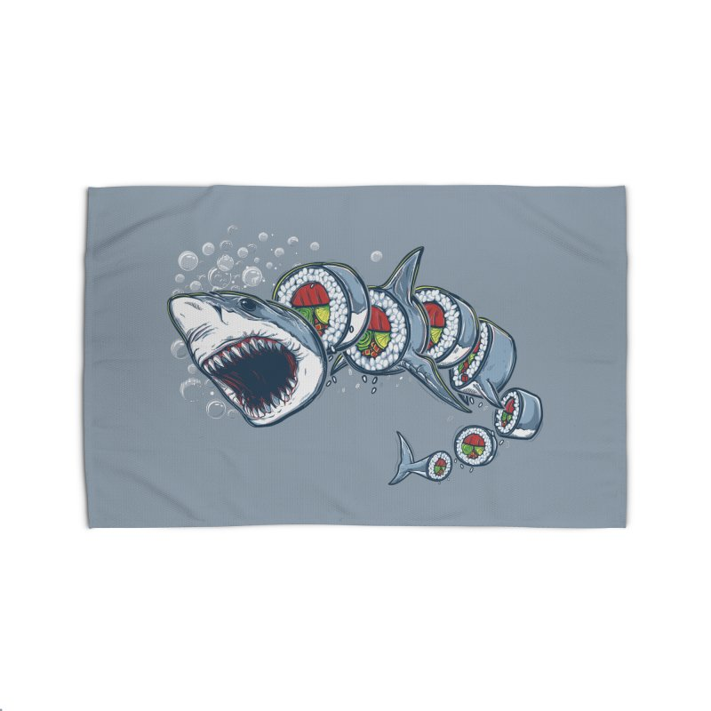 Shark Sushi Home Rug by Rax's Artist Shop