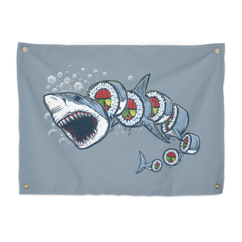 Shark Sushi Home Tapestry by Rax's Artist Shop
