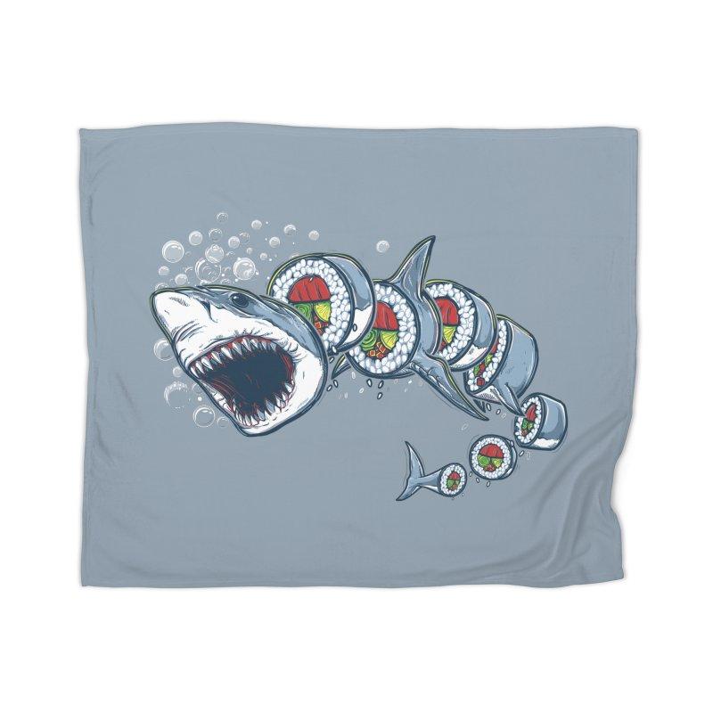Shark Sushi Home Blanket by Rax's Artist Shop