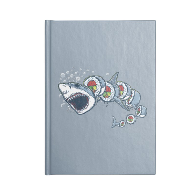 Shark Sushi Accessories Notebook by Rax's Artist Shop