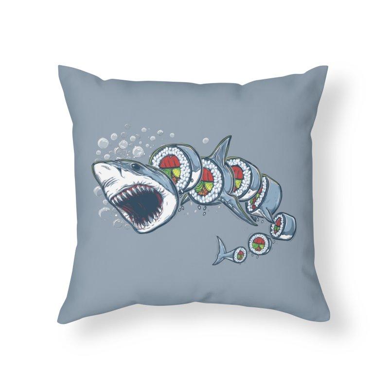 Shark Sushi Home Throw Pillow by Rax's Artist Shop