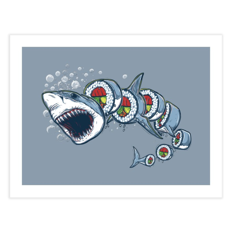 Shark Sushi Home Fine Art Print by Rax's Artist Shop