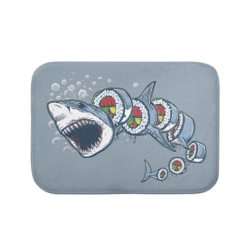 Shark Sushi Home Bath Mat by Rax's Artist Shop