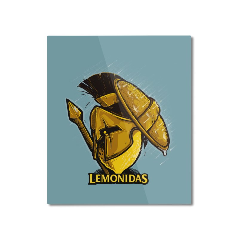 Lemonidas Home Mounted Aluminum Print by Rax's Artist Shop