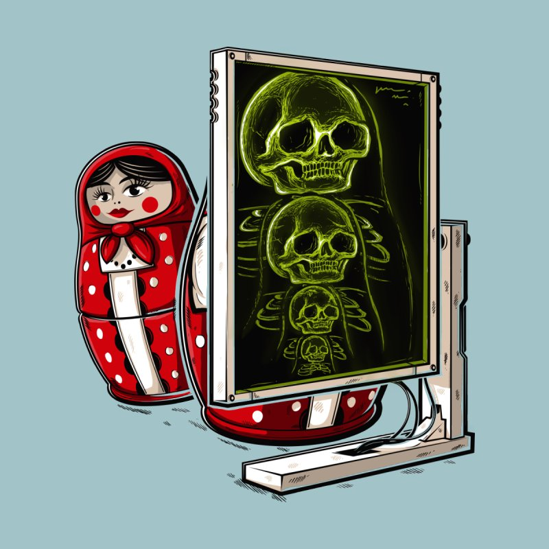Matryoshka X-ray Men's Pullover Hoody by Rax's Artist Shop